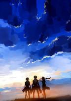 青色のペンダント