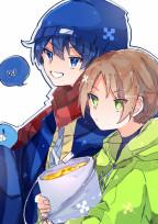 青と緑の兄弟