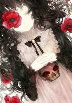 黒い髪に、赤い薔薇を___。