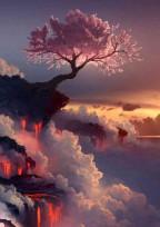 桜の大樹と巫女の世界