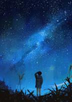 夜空にひかれ。