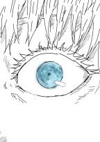 闇夜を照らす蒼い月