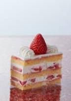 ビターテイストのショートケーキ。