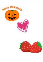 かぼちゃといちご