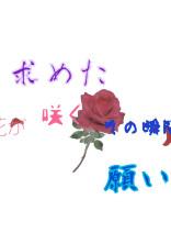 求めた願い    花が咲くその瞬間を