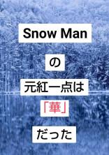 Snow Manの元紅一点は「華」だった