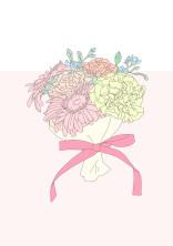 優しく花に触れて