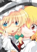 嫁(魔理沙)と嫁(ルーミア)の画像を載せるだけ♡