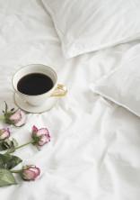 朝食はベッドの上で。