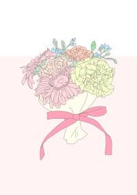 花束と共に