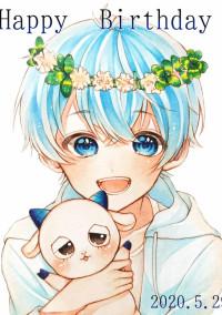 青の髪色をした男の子__。🔞🔞🔞
