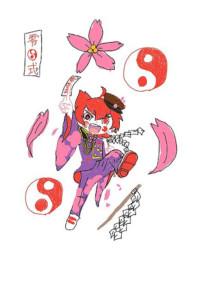 桜舞う桜隊員
