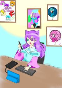 猫耳の事務所
