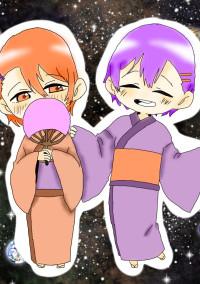 桃橙と紫橙の短編なはずっ(๑>•̀๑)