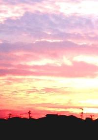 夕焼けの朝