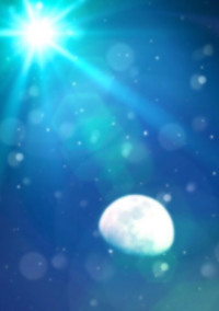月明かりの下。君と出会って。
