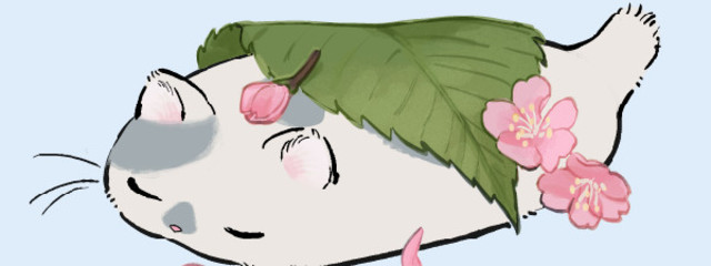さくらもち(桜餅)@別名nemuneko(ねむねこ)さんの壁紙画像