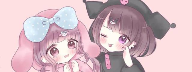 風愛(ふうあ)💚恋桃ちゃんとヘッダーペア画中さんの壁紙画像
